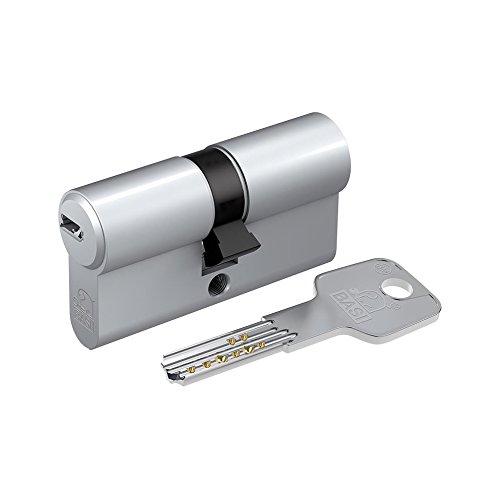 BASI BM Euro Profile Cylinder Lock 45/70 with 3 Keys - Matt Nickel Plated