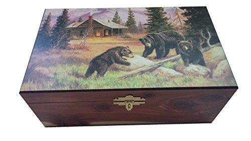 Amish Made Bear Cabin Cedar Chest Box, 6 1/4