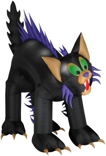 Scary Cats For Halloween (AIRBLOWN ANIMATED BRAT CAT HALLOWEEN PROP Gemmy Yard Decoration House Scary -)