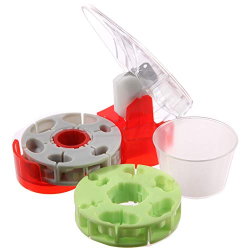 Medifacx ProRx Disc Pill Cutter with 1 Pill Catch Cup & Additional Green Disc ... (Green)