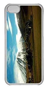 Customized iphone 5C PC Transparent Case - Vast Open Space Personalized Cover