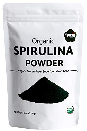 USDA Organic Spirulina Powder, Pack of 8 oz/225 Grams, Green Superfood, Rich in Protein and Minerals, Alkalizing, Non-GMO, Vegan, Sunlight Grown, Resealable Pouch (ValuePack-8 oz) (Best Iron Tonic In India)