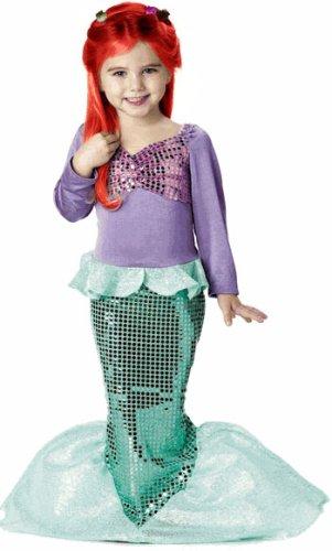 [Lil' Mermaid Costume - Toddler Medium] (Ariel Costumes Toddler)