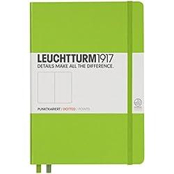 Leuchtturm Lime Hard Cover Medium Notebook, Dots, A5