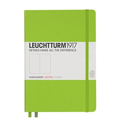Leuchtturm Hardcover Medium A5 Dotted Notebook [Lime]