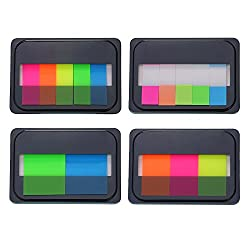 Eboot 16 Pieces Assorted Color Index Tabs Flags Sticky Tabs Notes For Page Marker, 4 Styles