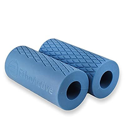 Etho Active Gamma Gripz - Best Thick Dumbbell Grips, Barbell Grips for Performance Training, Muscle Growth, Crossfit, WOD
