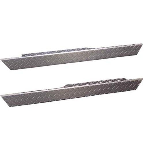 EZGO TXT Golf Cart Rocker Panels - Polished Aluminum Diamond (Polished Aluminum Golf)