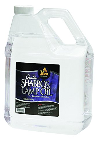 1 Gallon Paraffin Lamp Oil - Clear Smokeless, Odorless, Clean Burning Fuel for Indoor and Outdoor Use - Shabbos Lamp Oil, By Ner Miztavh (Color Oil Lamp)