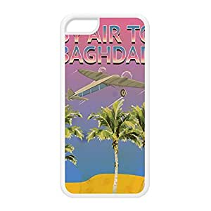 Baghdad White Silicon Rubber Case for iPhone 5C by Nick Greenaway + FREE Crystal Clear Screen Protector