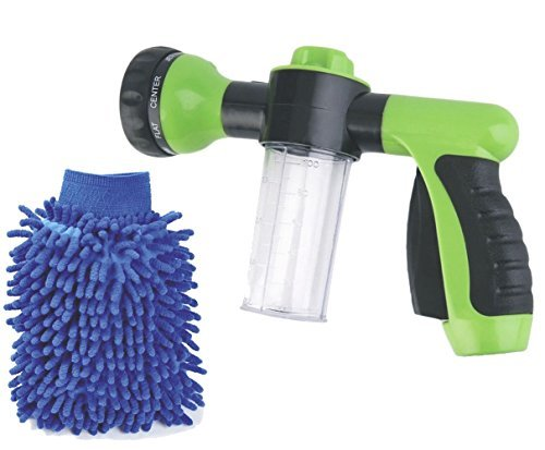 High Pressure Garden Hose Foam Nozzle-Foam Car Washer Water Sprayer Gun with 8 adjustable Pattern by Buyplus (Sprayer Gun)