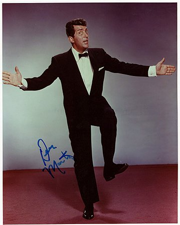 DEAN MARTIN (Rat Pack) 8x10 Male Celebrity Photo Signed In-Person