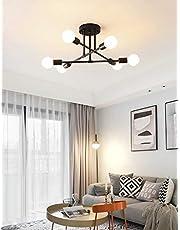 Dellemade Modern Sputnik Chandelier, 6-Light Ceiling Light for Bedroom,Dining Room,Kitchen,Office