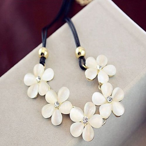 New fashion Womens Crystal Flower Choker Chunky Statement Bib Necklace Charm Chain Pendant,hobo - Authentic Chanel Sale Sunglasses