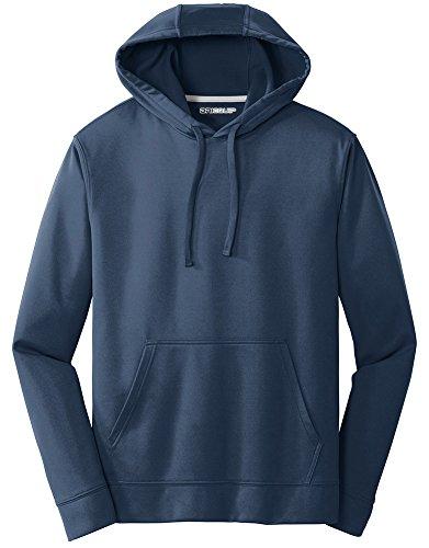 DRIEQUIP Performance Fleece Pullover Hooded Sweatshirt-M-DeepNavy ()