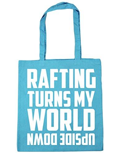 HippoWarehouse Rafting enciende mi mundo al revés Tote Compras Bolsa de playa 42cm x38cm, 10litros azul (Surf Blue)