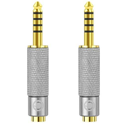 2 Adaptadores 4.4mm Macho A 3.5mm + 2.5mm Hembra Balanceado