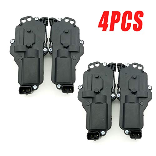 (Dade Set of 2 (4 Pcs) Left & Right Power Door Lock Actuators Kit for Ford F150 F250 F350 F450 Excursion Expedition Ranger Mercury Montego Monterey Lincoln 6L3Z25218A42AA 6L3Z25218A43AA)