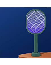 1pc Fly Swatter (Deep Green) + 1pc Plastic Swatter (Random Color)