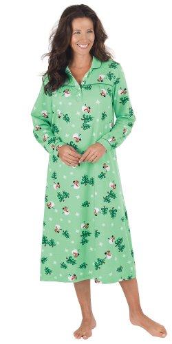 PajamaGram Women's Let It Snow, Man! Long Nightgown