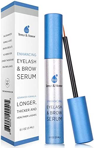 Natural Eyelash Growth Enhancer and Brow Serum for Long, Luscious Lashes and Eyebrows