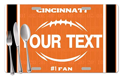 - BRGiftShop Personalized Custom Name Football Team Cincinnati Set of 4 Table Placemats