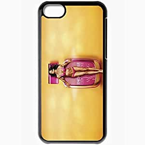 Personalized iPhone 5C Cell phone Case/Cover Skin Adriana Lima Black
