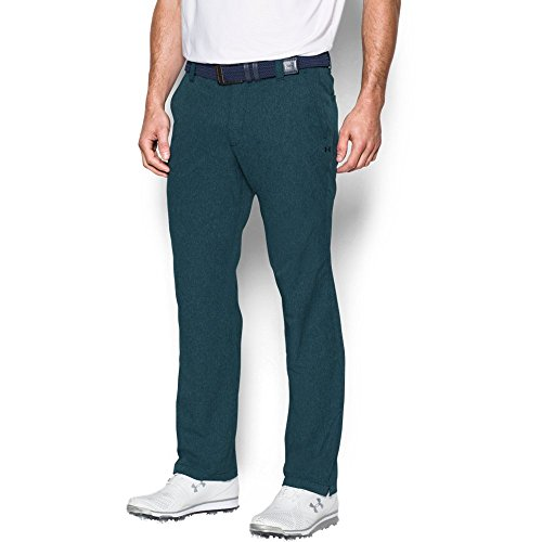 Under Armour Men's Match Play Vented Pants, Nova Teal/Red, 32/34