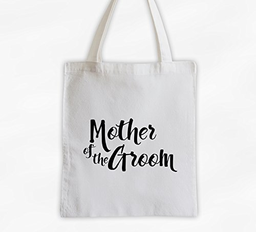 Mother of the Groom Cotton Canvas Tote Bag - Brush Script Bridal Party Attendants Gift (3001-MG) ()