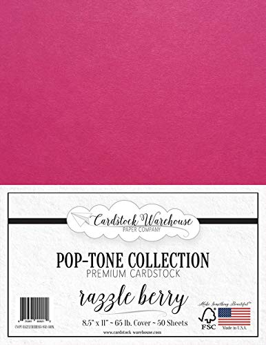 65Lb Cover Very Berry Pink Cardstock 50 Sheets 8.5 x 11 inch