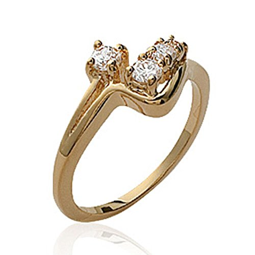 ISADY - Nika Gold - Bague Femme - Plaqué Or 750/000 (18 carats) - Oxyde de de zirconium