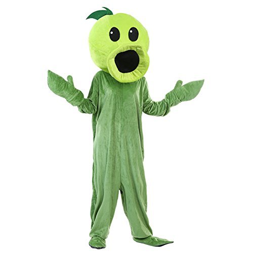 Zombie Plants Costume (Kacm Plants vs Zombies Costume Pea Shooter Stage Performance Clothing)