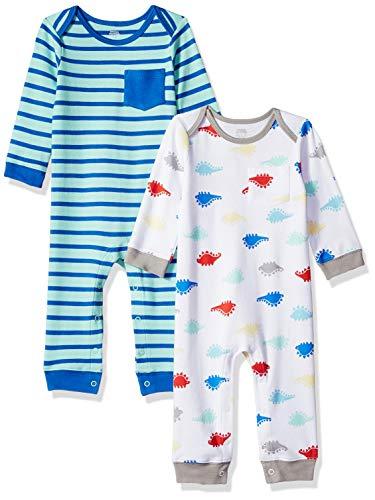 Amazon Essentials Baby Boys 2-Pack Coverall, Dino, Newborn