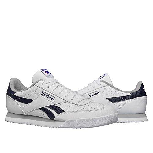 Reebok Herren Royal Rayen 2l Laufschuhe Blanco / Azul / Gris (White / Collegiate Navy / Tin Grey)
