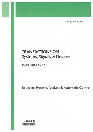 Read Online Transactions on Systems, Signals and Devices: v. 5, No. 1: Issues on Systems, Analysis & Automatic Control pdf epub