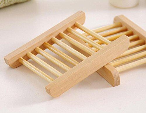 Nova-store 12pcs Polished Natural Wooden Wood Dowel SOAP Saver Dish Rack Wooden RODS l Bamboo Wooden Soap Box Holder