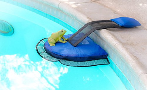Frogs Swimming Pool - Escapes Pool Supplies | Animal Pool Escape Ramp | Critter Saver | Unlimited Lifetime Guaruntee