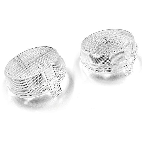 HTTMT MT274-006-CL Clear Turn Signal Lens Compatible with Kawasaki Vulcan 2000 1600 Classic Nomad Honda Cruisers