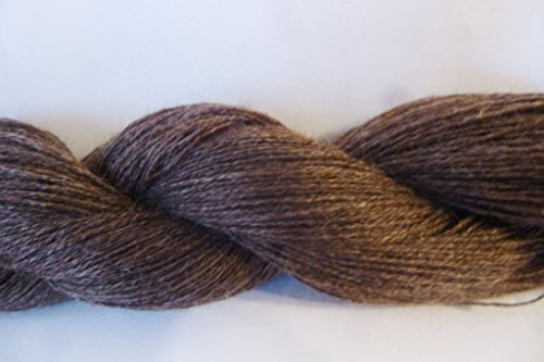 Dark Brown Light Fingering / Lace Weight Thread Yarn