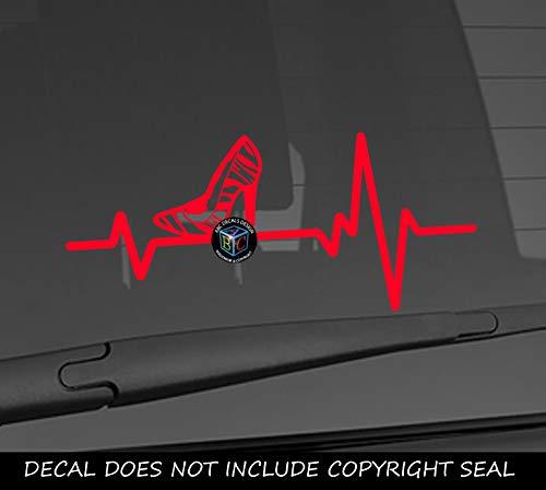 - Heart Beat Line Heartbeat HIGH HEEL Zebra Animal Print Stiletto Car Vinyl Sticker Wall Decal 3.75