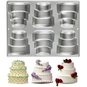 Wilton 6-Cavity Mini-Tiered Cake Pan - Mini Tier Cake Pan Three