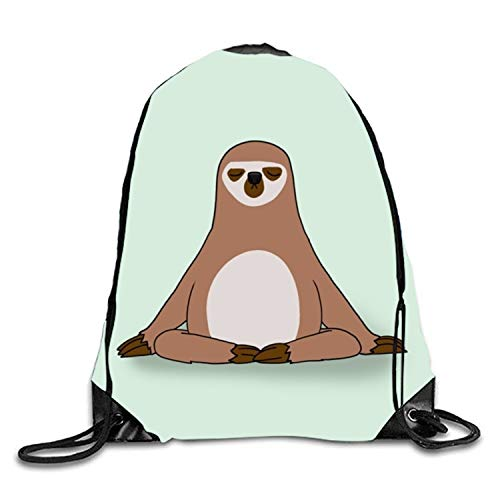 (Sloth Vision Drawstring Backpack Large Capacity String Backpack Gym)