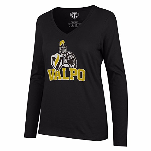 NCAA Valparaiso Crusaders Women's Ots Rival Long sleeve Distressed Tee, Large, Jet ()