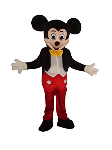 Mickey Mouse and Minnie Mouse Adults Mascot Costumes Cosplay Fancy Dress Outfits (Mickey Mouse)]()
