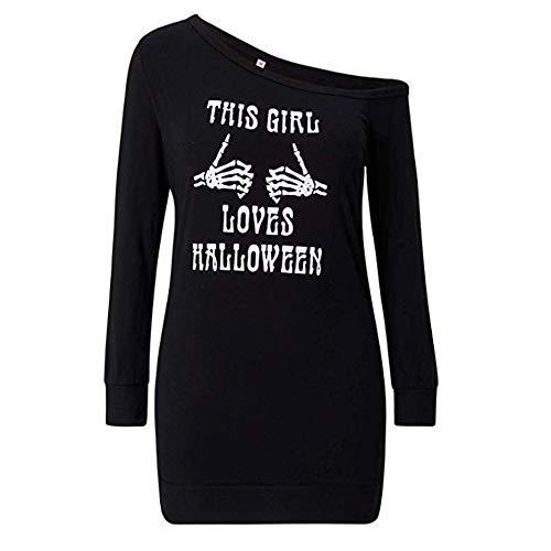 MEANIT Halloween Womens Sweatshirts Long Sleeve Off Shoulder Sweatshirt Pullover