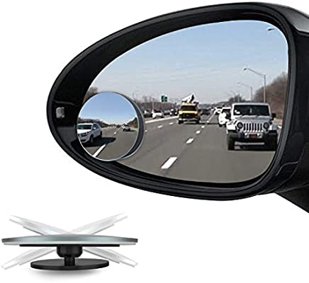 Car Vehicles Frameless Fan-shaped Convex Rearview Blind Spot Mirror 2pcs