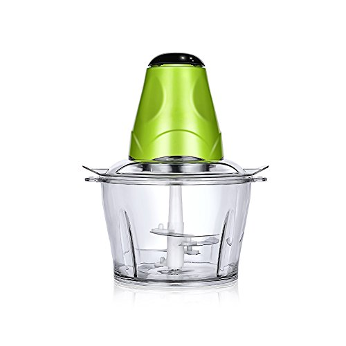 Huluwa Food Processor Mini Electric Multipurpose Meat Chopper with One-Touch Accelerate Button, 30 Seconds Overheat Protection Function, Small