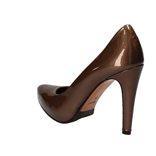 ALBANO - Zapatos de vestir de charol para mujer marrón marrón