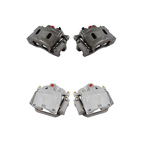 CK01233 FRONT + REAR [ 4 ] Premium Grade Semi-Loaded OE Caliper Assembly Set Kit