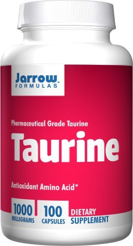 Jarrow Formulas Taurine 1,000mg Capsules, 100-Count (Pack of 5)
